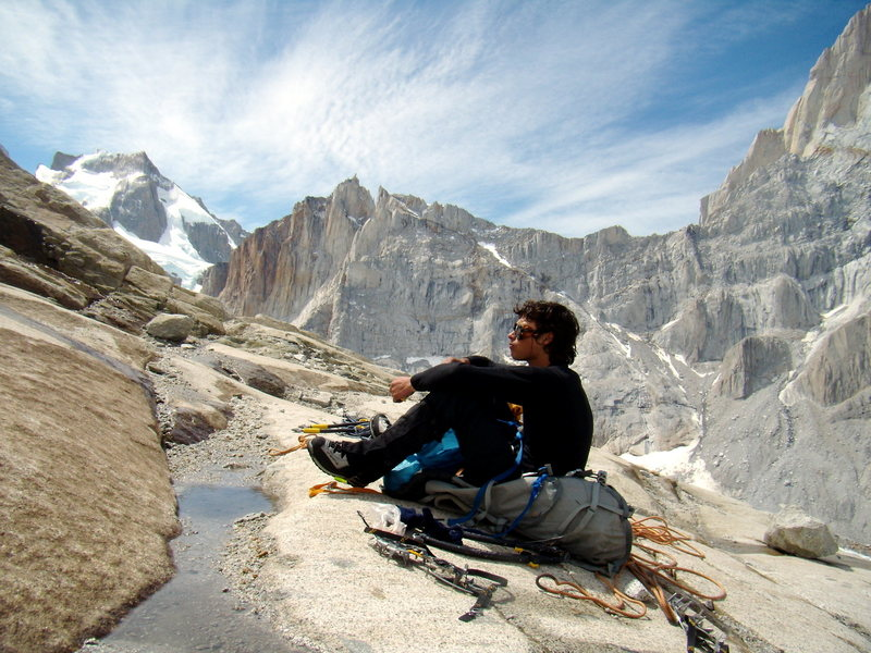 Rock Climbing Photo: A sitting man in front of Sitting Man.  Jan 11th. ...