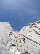 """Rock Climbing Photo: Jordon leading on De La """"S'.  Dec 31st 2008."""