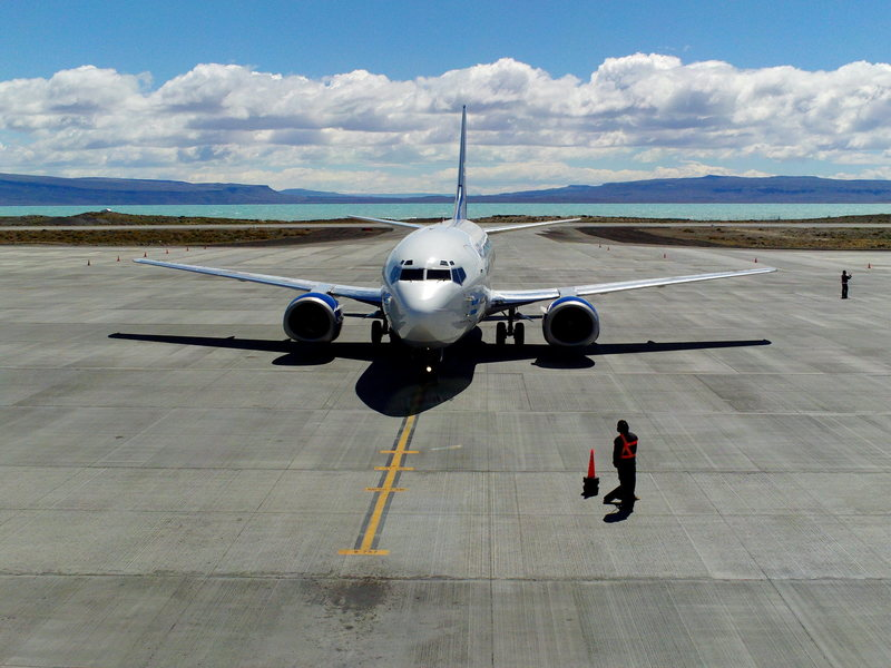The plane home.  El Calafate.  January 16th 2009.