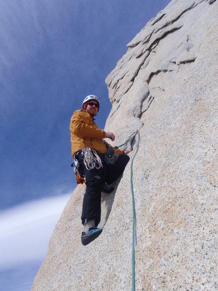 Rock Climbing Photo: Leading on De La 'S'.  Photo by Jordon Griffler.  ...