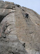 Rock Climbing Photo: Eric almost through the head traverse on the first...