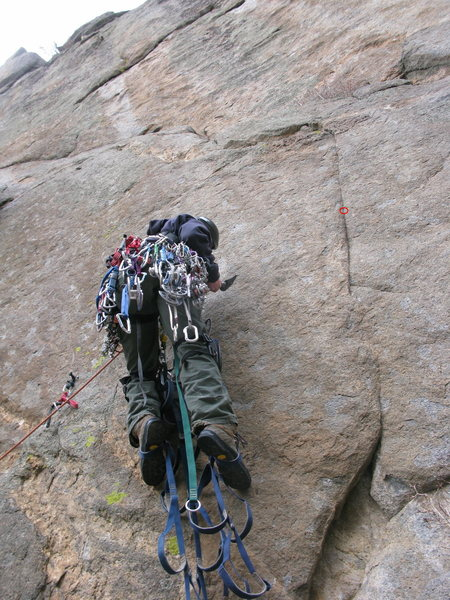 Rock Climbing Photo: Eventually I make my way up a little higher and I ...