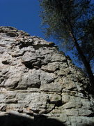 Rock Climbing Photo: John Evans on top rope at Kennel Club.  Fun route....