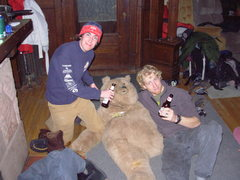 Rock Climbing Photo: Sergeant Brown (the bear) being brutally abused. P...