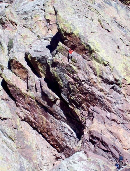 Rock Climbing Photo: Wayne Crill on Kickin' Chicken, photo: Bob Horan.