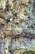 Rock Climbing Photo: Pullin' down on a Rifle overhang, photo: Bob Horan...
