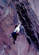 Rock Climbing Photo: Sending the 1st pitch of Scary Canary, photo: Bob ...