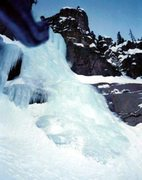 Rock Climbing Photo: The first pitch of Tasty Freeze in the winter of 1...