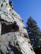 Rock Climbing Photo: There are some rounded holds, here, but it's easie...