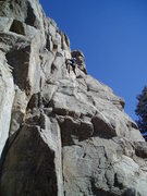 Rock Climbing Photo: Higher up it gets steep. You pull left into a roun...