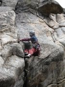 Rock Climbing Photo: I was a little shaky getting stood up. I had expec...