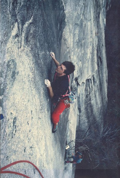 Rock Climbing Photo: Caught Up In The Air- photo by Thomas Kelley