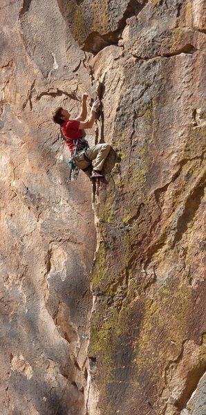 Is this For Real is one of the finest routes at the Ridge. Stricker - coasting.