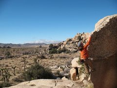 Rock Climbing Photo: Enjoying the finish of Native Arete (V0), Joshua T...