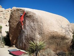 Rock Climbing Photo: Reaching for the sloping lip of The Chube (V0+), J...