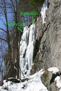 Rock Climbing Photo: this is the route...