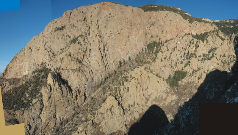 Rock Climbing Photo: The Shield, Sandia Mountains, NM.  Composite image...