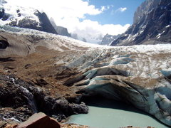Rock Climbing Photo: A hidden lake. Glacier Torre. Dec 30th 2008.