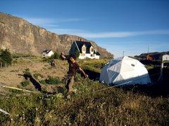Rock Climbing Photo: Jordon slacklining El Chalten. Jan 2009.