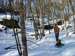 Rock Climbing Photo: Favorite winter Dodge activity...  Feb. 09.  Trail...