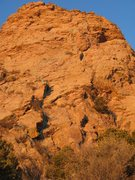 Rock Climbing Photo: Hanging Sling Buttress (5.8), The Prow, Sandia Mou...