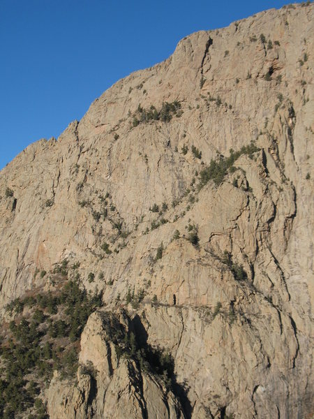 Rock Climbing Photo: Standard S Route as seen from the top of the Prow....