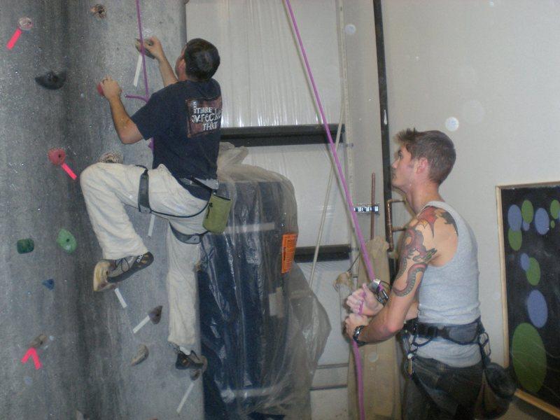 Rock Climbing Photo: Me belaying at urban rocks gym in Chatanoga TN