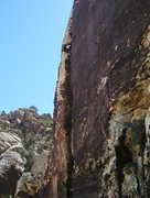 Rock Climbing Photo: Nearing the top of the Coffin Corner
