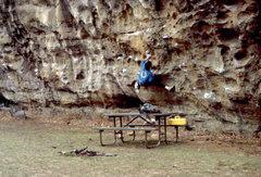 Rock Climbing Photo: Bob Horan traversing the Makanda Bluff Traverse, S...