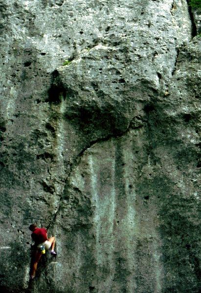 Climbing in the Frankenjura, Germany, photo: Bob Horan.