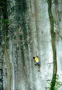 Rock Climbing Photo: Bob Horan bouldering in the Frankenjura.