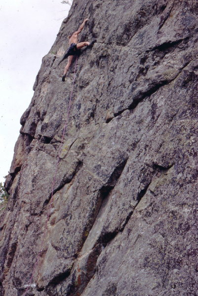 Rock Climbing Photo: Richard Rossiter on Leviathon, Dream Canyon, photo...