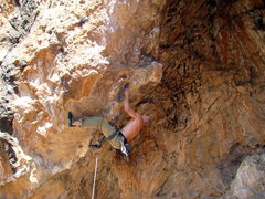 Rock Climbing Photo: Setting up for the second throw on the start for F...