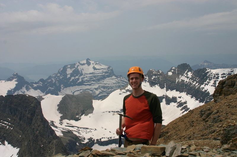 Mt. Reynolds after ascent of North Face, GNP, Montana, Summer 08.'
