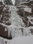 Rock Climbing Photo: Freed Canyon Falls (Feb 2009).
