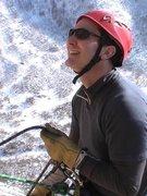 Rock Climbing Photo: Belaying Lee Jensen while he leads P2 of Dancing W...
