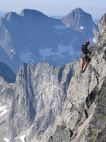 At the notch near summit. Photo: Jesse Jackson.