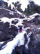 Rock Climbing Photo: Steve Britt on the Mixed thing in the middle. (200...