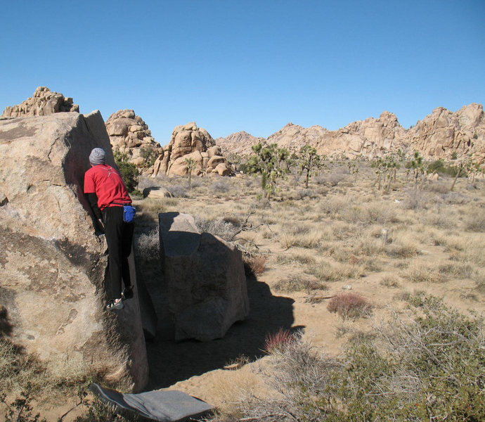 Pressing it out on The Garden of Eden (V0-), Joshua Tree.<br>