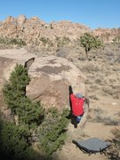 Rock Climbing Photo: Finishing up the flake of Islands in the Stream (V...
