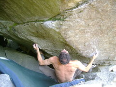 Rock Climbing Photo: Working the low start to Scarface