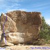 Photo/topo for Papa Boulder (West Face), Joshua Tree.<br>