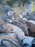 Rock Climbing Photo: Looking down from El Diablo, Pena Blanca