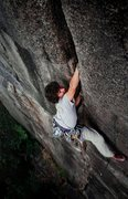 Rock Climbing Photo: Greg Jackson on the great 'Nut Cracker', Barber Wa...