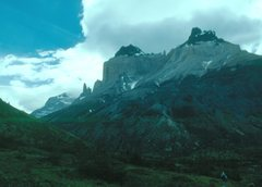 Rock Climbing Photo: Cuernos del Paine, Chile.  The black tops of these...