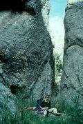 Rock Climbing Photo: Needles, SD.  These pinnacles are pegmatites, poss...