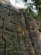 Rock Climbing Photo: Upper portion of Mirror Man.