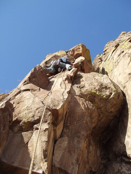 Rock Climbing Photo: Looking for gear....
