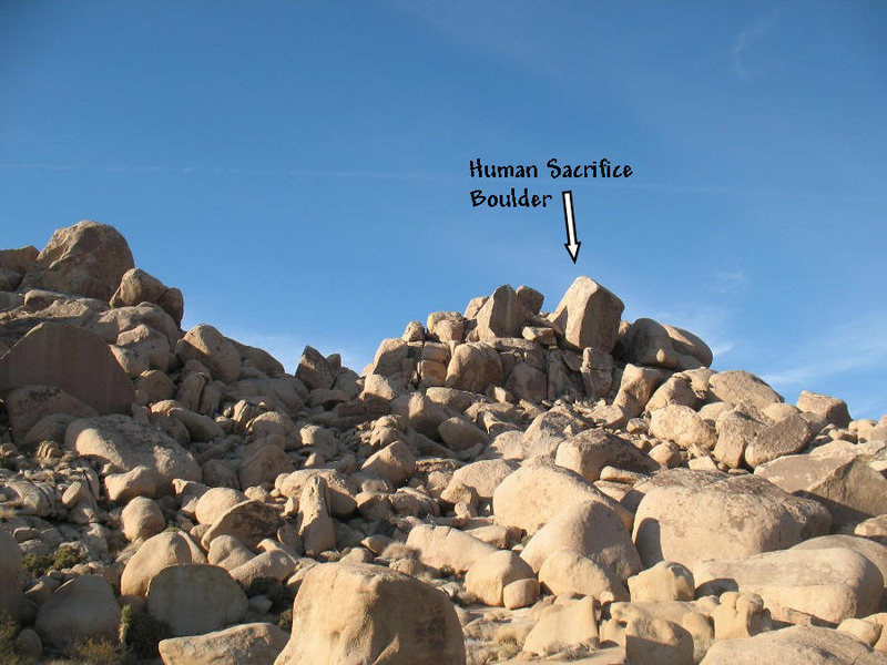 Rock Climbing Photo: The landmark Human Sacrifice Boulder, Joshua Tree ...