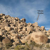 The landmark Volcano Boulder, Joshua Tree NP